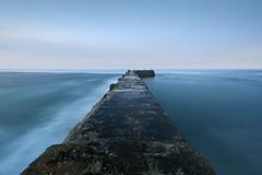 Sennen Cove Lands End (Explored) (Simon Verrall) Tags: longexposure november sea pier cornwall harbour landsend stives breakwater sennen sennencove 2015