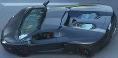 Aventador (LakeRidge Photography) Tags: auto toronto black tower cn mirror shine engine automotive reflect spadina lamborghini sportscar lambo exoticcar aventador