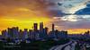 Sunset in Kuala Lumpur (Nur Ismail Photography) Tags: sunset skyline cityscape petronas burning twintowers kualalumpur petronastwintowers klskyline kualalumpurcitycentre nurismailphotography nurismailmohammed nurismail