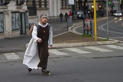 athletic & catholic (zane) Tags: rome roma sport religion skater inliner prete