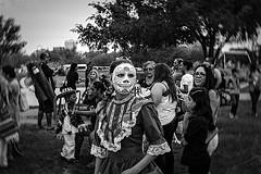 DOD-06937 (m.r. nelson) Tags: arizona bw usa southwest monochrome portraits dayofthedead blackwhite az artphotography mrnelson marknelson markinaz diadelosmuertosphoenix díadelosmuertosfestivalphx2015