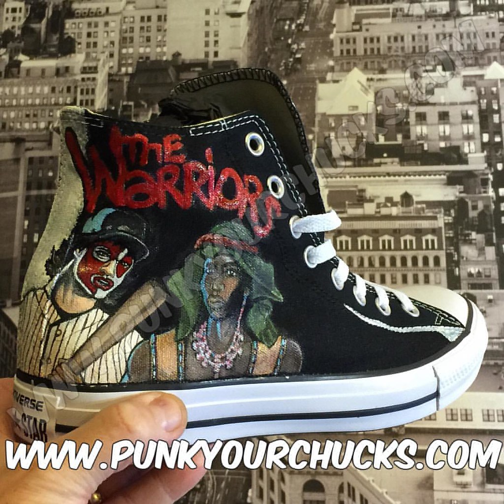 b802a7043825 Custom  quot The Warriors quot  Chuck Taylors by MAG from Punk Your Chucks  and the