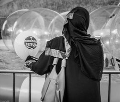 The balloon (amrolabib) Tags: street travel summer woman white black church festival lady relax fun photography worship christ thomas background candid islam baloon religion jesus inspired australia leuthard canon1200d