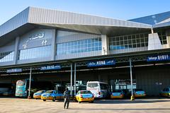 New bus terminal, suburbs of Kashgar (inchiki tour) Tags: travel building architecture highway snapshot uighur xinjiang silkroad karakoram kkh kashgar  uyghur traveling centralasia  kashi   busterminal  2015  karakoramhighway