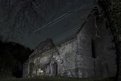 Denton Church (ReverendJT86) Tags: longexposure lightpainting abandoned church architecture night stars lost interestingness decay explore forgotten 370 derelict hdr decayed startrails i500