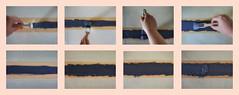 Picture Riddle: Painting 4 layers with this special paint, so that the force of attraction will be strong. 13., 14., 15.,16. November Photos 2 - 9 of 13  4 Schichten dieser speziellen Farbe im Kreuzgang, damit die Anziehungskraft stark ist. (hedbavny) Tags: vienna wien blue kitchen wall grey austria sterreich stencil hand mask time background wand linie diary gray stripe grau tapis minimal balance 365 kche weaver blau minimalism simple weave tagebuch bau weber projekt raster tapestry malen zeit mauer interaction teppich untergrund negativ handwerk streifen maske dialog hintergrund wissenschaft maler hausbau pinsel schablone analogie tapisserie strich textur schnitt wechselwirkung positiv krepp weben minimalismus anstreicher schnittmuster interaktion baumaterial kreppband hautfarbe antithese bildwirkerei teppichweber hedbavny ingridhedbavny unterlegung zeitlichabfolge