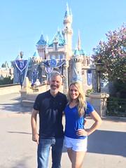 Sam and Jenn at Sleeping Beauty Castle (Sam Howzit) Tags: california jenn sleepingbeautycastle disneylandresort samhowzit disneyland60th disneylanddiamondcelebration
