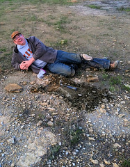 Fascinating fossil find (SMU Research Blog) Tags: england fossil dallas texas unitedstates paleontology lakelewisville cretaceous pterosaur brentdunn scottmyers eagleford dedmancollegeofhumanitiesandsciences timothyscottmyers petrosaurjawbone