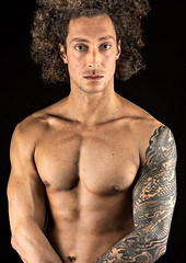 Timm (oliver.nispel) Tags: portrait male sport sports workout definition body strong muscle muscular shape skin hair curly tattoo tattooed ink inked face eyes