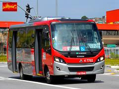 4 7702 Pêssego Transportes (busManíaCo) Tags: busmaníaco nikond3100 ônibus leste amarelo vermelho branco prata pêssego transportes caio foz 2016 agrale ma 100