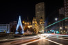 Plaza del Humedal (ed10vi) Tags: night noche christmastree arboldenavidad christmas navidad church iglesia lights luces traffic trafico gijón asturias spain españa longexposure