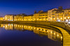 Pisa by Night. (Alex.Sebastian.H) Tags: pisa lungarno arno riflessi reflection night blue building nightshot alexsebastianh holiday italy longexposure europe nikond610 nikkor2470 tuscany tourism