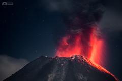 Explosión Vulcaniana - Volcán de Colima en México
