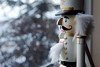 Attention! (Compostition) Tags: 2 nutcracker sidelight bokeh window snow