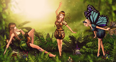 Fairies from forest (meriluu17) Tags: tfgc fgc thefantasygachacarnival fantasy fae fairy gacha rare forest green light lightts leave leaves butterfly wild magic magical surreal fairies chill brokenstyle outdoor people elf elven pixie pixies