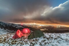 'Nantlle Night Views' - Nantlle Ridge, Snowdonia (Kristofer Williams) Tags: night sky stars cloud moonlight nantlleridge ygarn moonset nantllevalley snowdonia wales nightscape landscape winter snow camping wildcamp