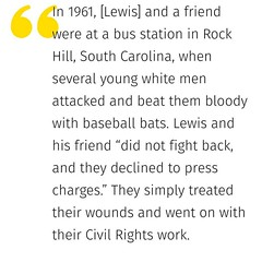 I can't even begin to understand how he can choose to pick a fight with John Lewis. It's racism, white privilege, simply being a terrible human... (PTank Media Center) Tags: i cant even begin understand how he can choose pick fight with john lewis its racism white privilege simply being terrible human