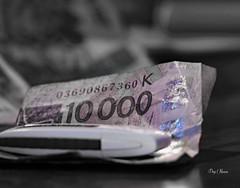 10 000 (serial n° N6MAA10816) Tags: desaturation money argent billet clé usb