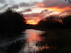 Forth & Clyde Canal at sunset (luckypenguin) Tags: scotland falkirk forth clyde canal sunset