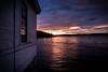 The sunset's song (abdurj) Tags: sundown shore house serene window fjord oslo norway water cloud seascape sunset dusk evening light sky travel sea beach landscape nature sun