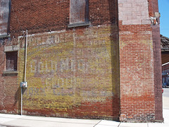 OH McComb - Gold Medal Sign (scottamus) Tags: mccomb ohio hancockcounty old ghost ad sign painting mural building advertisement goldmedal