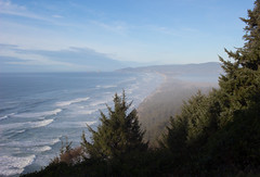 Cape Kiwanda (TheColorsBleed) Tags: beauty cape kiwanda lookout state park oregon coastal ocean waves fog coast forest sea pollution mist seagreen nature seagulls sunset seagrass reflections pacificnorthwest pacific pnw north west lightbeams northwest dusk beams light