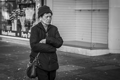 The Bleak Midwinter (Leanne Boulton) Tags: monochrome people urban street candid portrait portraiture streetphotography candidstreetphotography candidportrait streetportrait streetlife sociallandscape woman female face facial expression look emotion feeling mood atmosphere emptiness vacant desolate isolated sadness misery tone texture detail natural light shade naturallight outdoor city scene human life living humanity society culture canon 5d 5dmarkiii 70mm character ef2470mmf28liiusm black white blackwhite bw mono blackandwhite glasgow scotland uk