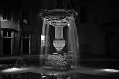 Fontaine (Jacques Borruel) Tags: pau noiretblanc urban rue nuit eau fontaine nocturne place noiretblanc|france blackandwhite sonyflickraward