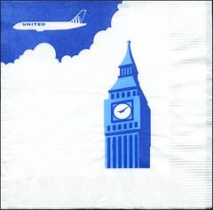 ephemera - UA Napkin 2017 (Jassy-50) Tags: ephemera napkin unitedairlines ua airline airplane plane bigben london england greatbritain clocktower clock tower