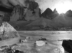 Tre cime in autunno N°4 B&W version (Bernhard_Thum) Tags: bernhardthum thum dreizinnen trecime autumn alps h5d60 hcd4824 nature elitephotography capturenature landscapesdreams