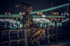 Little Princess statue (Vagelis Pikoulas) Tags: budapest statue november 2016 autumn hungary travel europe canon 6d tamron 70200mm vc bokeh lights f28