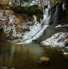 Fall Run Panorama (Brad Truxell) Tags: fallrunpark fallrun waterfall nature ice snow stream park trees water hdr exposureblending sigma1020mm nikond7000