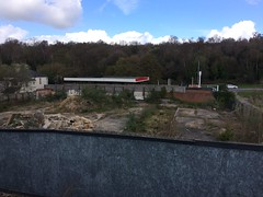 Grot (My photos live here) Tags: royal tunbridge wells kent england grot esso petrol station waste ground land i phone 5s