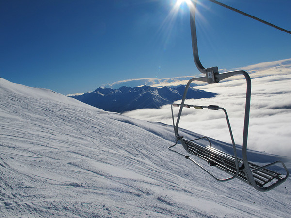 Saddle Chairlift, Treble Cone NZ (23 August 2013)