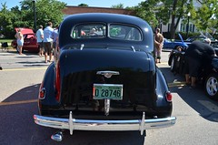 Rear view, 1938 Buick Special -- Howell (MI) Melon Fest car show (Corvair Owner) Tags: show classic cars car festival buick antique michigan 1938 august special vehicle melon 38 howell 2015 melonfest howellmelonfest