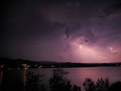 lightning over Ingonish ((robcee)) Tags: sky water composite clouds novascotia olympus capebreton lightning em1 2015 livecomp