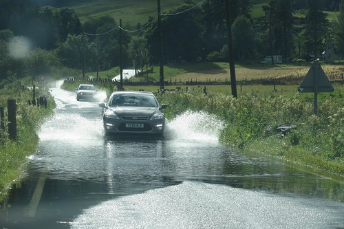 The Flood on the A924 near Pitlochry