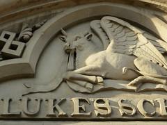 St Luke's School (moley75) Tags: scarf leicester wingedbull broughamstreet stlukesschool