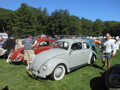 Gray 1950 VW Beetle, Left Side (smaginnis11565) Tags: sedan volkswagen newjersey vwbeetle flanders type1 2015 splitrearwindow allaircooledgathering 1950beetle