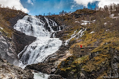 Kjosfossen waterfall and Huldra (Christos Zoumides) Tags: ballet mountains nature water norway forest waterfall dance nikon ballerina rocks d750 scandinavia flmsbana flam myrdal aurland mountainrailway fjordane kjosfossen huldra sognogfjordane myrdalstation nikon2470mm nikon2470mmf28 scandinaviandance scandinavianfolklore flmline flamline nikond750 seductiveforestcreature norwegianballet flmsbanamountainrailway