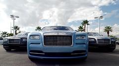Wraiths (thomaspackham) Tags: blue sky cars clouds lasvegas nevada ghost gray rollsroyce palmtrees exotic phantom luxury bentley astonmartin wraith motorcars towbin