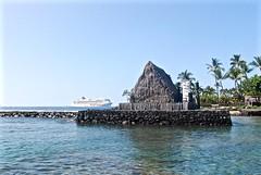 14Oct0942HST Keauhou Bay Historic Kamehameha III Hale (mahteetagong) Tags: cruise hawaii bay nikon ship tokina kona hale keauhou 1224mmf4 d80
