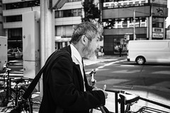 Tokyo_Street things have changed (Vincent Albanese) Tags: life street light people bw woman sunlight man bike japan shop dark walking photography japanese fuji shadows candid transport sydney inspired streetphotography saturday australia pedestrian smoking explore adobe biking fujifilm midday learn shopfront brilliance lightroom amatuer shopkeeper allpeople presets 23mm mirrorless xpro1 inspiredeye lightroom5 xf23mm x100s xf27mm elephantgunpreset