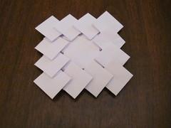 Fujimoto Escher Steps (J. McKeever) (Helyades) Tags: paper square origami steps fold escher papier tessellation escalier carré pli marches fujimoto mckeever pliage
