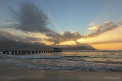Hanalei Bay (sathellite) Tags: ocean hawaii pier pacific sunsets kauai hanalei hanaleibay hawaiisunset sathellite shishirsathe