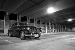 black n white - 1967 Volvo 122s (samuelbowman) Tags: green classic cars 1969 car vintage lights volvo amazon automobile sam sweden garage rally hipster swedish racing chrome 1967 british carlo 1960s 1968 monte samuel hella bowman b20 122s swedespeed volvousa
