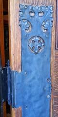 Antique Hinge (Samyell) Tags: door hinge black flower metal iron open antique decorative wroughtiron mansion wrought