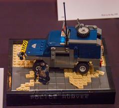 Police Humvee (SEdmison) Tags: california lego military police convention santaclara humvee bricksbythebay bricksbythebay2015