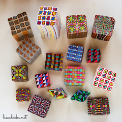 Miscellanous cane designs (lisaclarke) Tags: crafts polymerclay canes making crafting millefiori polkadotcottage