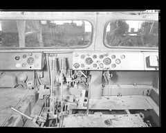 Controls and Gauges - 1944 (Larry Senalik) Tags: bw white tractor black blackwhite illinois factory 8x10 collection negative valley controls springfield gauges chalmers allis manufacturing svc sangamon lincolnlibrary